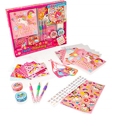Unicorn Card Making Set  Childrens Arts And Crafts Kit For Girls • 12.06£