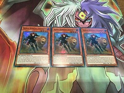 Yugioh Noble Knight Iyvanne SOFU-EN088 Super Rare Mint Condition X3 • 1.80£
