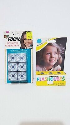 $11.99 • Buy Vintage Sylvania & Focal Flashcubes 9 Cubes 36 Flashes