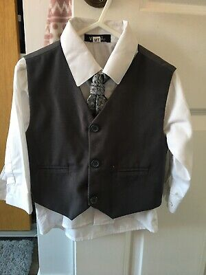 Baby Boys Shirt Waistcoat And Tie 12-18 Months Worn Once • 3.99£
