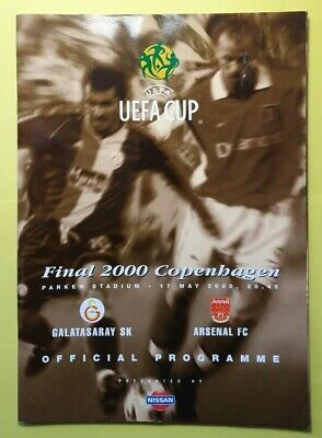 £19.99 • Buy 2000 UEFA Cup Final Arsenal Galatasaray Programme (Mint Condition)