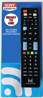 £4.99 • Buy Sony Remote Control A Universal Replacement That Works All Sony Tv Models