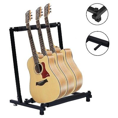 $ CDN29.44 • Buy  3-Way Multi Guitar Stand Foldable Acoustic Electric Bass Guitar Rack  UK