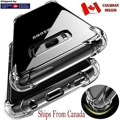 $ CDN4.89 • Buy CLEAR Case For Samsung Galaxy S10e S10 S9 S8 Plus Soft Silicone Shockproof Cover
