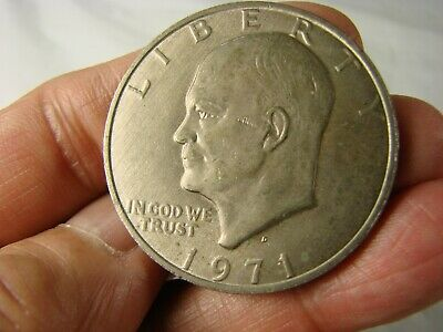 $12 • Buy Lot Of 4 1971 1972(2X) 1976 US Liberty Eisenhower One Dollar Coins MCA15
