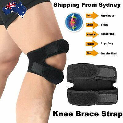 AU9.99 • Buy Knee Strap Dual Action Open Patella Knee Brace Support Strap Sports Exercise