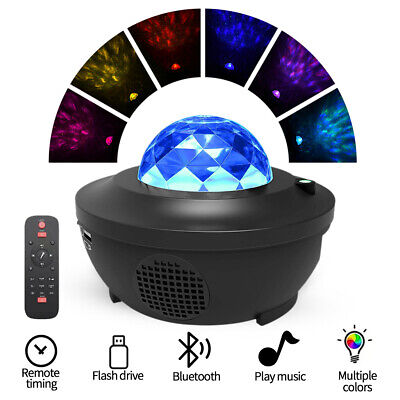 2 In 1 Projector LED Night Star Lights And Ocean Wave Light With Music Speaker • 22.89£