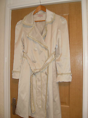 £8 • Buy Mac Coat Belted Neutral Bust 38 Inches Length 39 Inches Knee Length Stylish