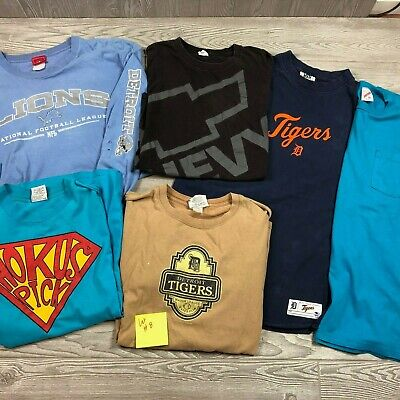 $ CDN54.24 • Buy Vintage Wholesale T-Shirt Lot Of 6 Men's T-Shirts Lions Tigers Chevy