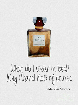 £3.79 • Buy Marilyn Monroe Chanel No. 5 Quote Poster Art Print A4