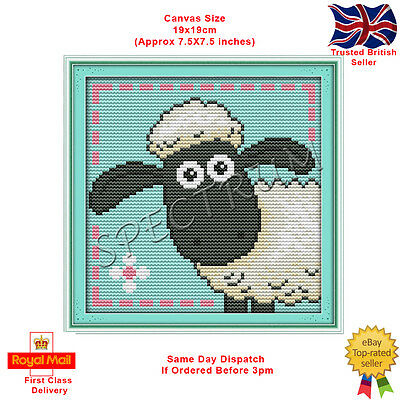 Shaun The Sheep Counted Cross Stitch Kit CBBC Aardman Wallace And Gromit • 7.99£