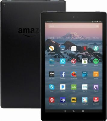 AU164.74 • Buy Amazon Kindle Fire HD 10 Tablet 32GB Black 7th Gen 2017 Alexa 1 Year Warranty