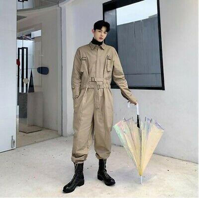 $82.79 • Buy Mens Retro Style Cargo Trousers Jumpsuit Long Sleeve One Piece American Casual L