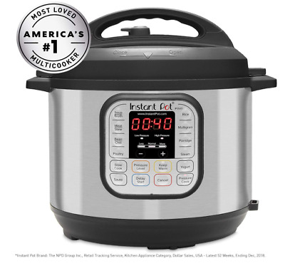 $90 • Buy 8 Qt Instant Pot DUO80 7-in-1 Multi- Use Programable Pressure Cooker $140 Retail