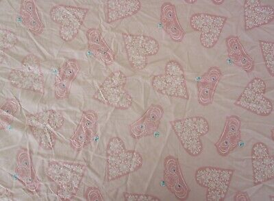£4.35 • Buy Disney Princess Toddler Bed Pink 100%  Cotton  Fitted Bottom Sheet-tiaras/hearts