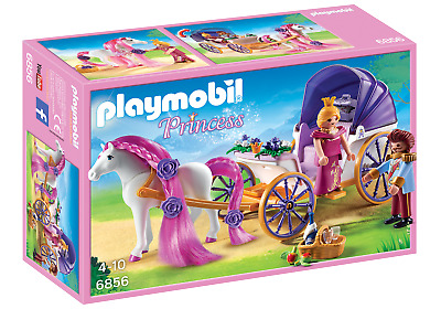 Playmobil 6856 Royal Couple And Carriage With Horse Mane To Comb (Playsets)  3+ • 19.99£