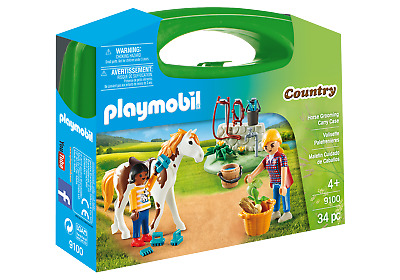 Playmobil 9100 Country Horse Grooming Carry Case (Farm & Animals, Playsets)  3+ • 9.99£