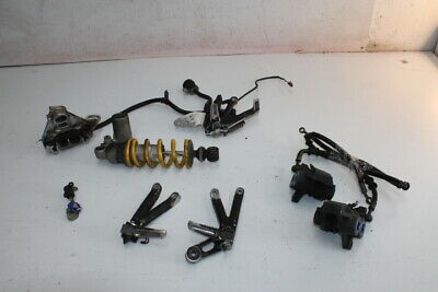 $32 • Buy 01 02 Yamaha Yzf R6 Parts Kit Front Calipers Right Rearset Rear Shock Seat Lock