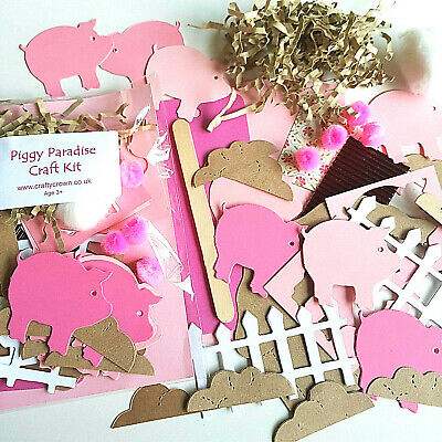Piggy Paradise Craft Kit / Children / New / Cardmaking / Party • 1.25£