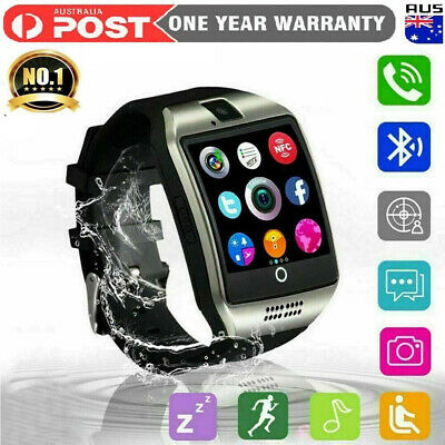 AU37.99 • Buy New Q18 Bluetooth Smart Touch Screen Wrist Watch For Android IOS SIM Card Watch