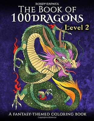 Dragons Beasts Magical Adult Colouring Book Fairy Tale Of Monster Dinosaurs • 8.99£