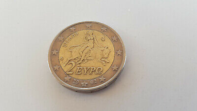 $ CDN461.37 • Buy 2 Euro Greece 2002 RARE Coin, S  On Bottom Star, Part Of  2  Is Out Of The Frame