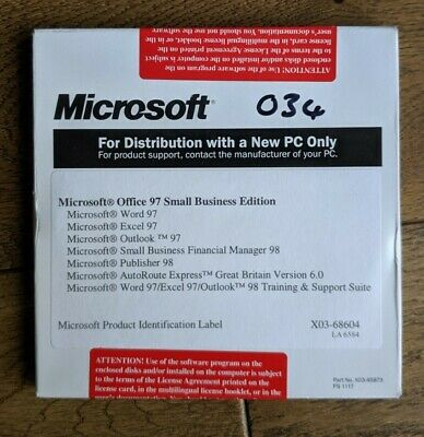 MICROSOFT OFFICE 97 Small Busines Edition Word, Powerpoint Etc • 9.89£