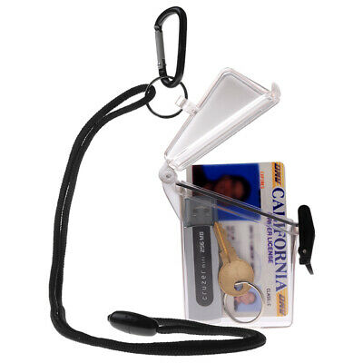 $7.99 • Buy WITZ See It Safe Clear Waterproof ID Badge / Card Holder Case W/ Lanyard & Clip