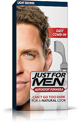 £14.99 • Buy Just For Men AutoStop Ready To Use Mens Hair Colour Auto Stop LIGHT BROWN A25
