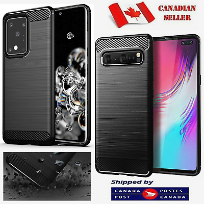 $ CDN8.49 • Buy For Samsung Galaxy S10 S8 S9 + Plus S10e Heavy Duty Carbon Fiber Slim Case Cover
