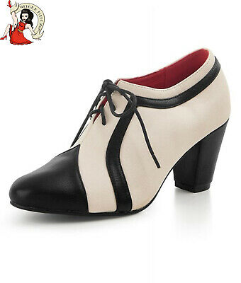 AU77.96 • Buy COLLECTIF AMELIA SHOES HEELS 40s Vintage Style LACE UP Lulu Hunn Ankle