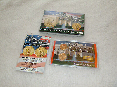 $12 • Buy Presidential Commemorative Dollars; 2 One Dollar 2013 Coins; William McKinley