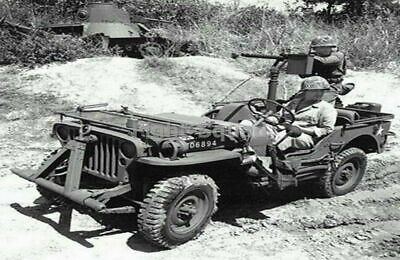 $5.04 • Buy WW2 Picture Photo Pacific 1943 Jeep Browning M1919 Machine Gun 2349