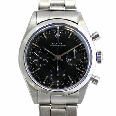 $ CDN241297.81 • Buy Vintage Rolex 6238 Pre-Daytona Black Dial Stainless Steel Stretch Bracelet Watch