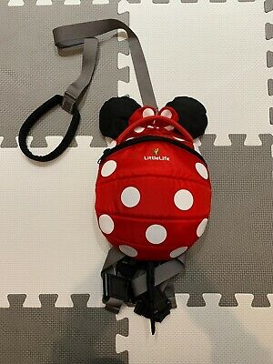 LittleLife Disney Minnie Mouse Toddler Back Pack Harness Reins • 8£
