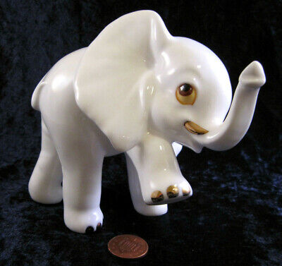 Royal Osborne 4  White Bone China Dancing Baby Elephant Ornament 1421 • 14.99£