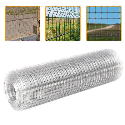 Galvanised Welded Wire Mesh Aviary Fencing Fence Chicken Rabbit Hutch Garden UK • 19.14£