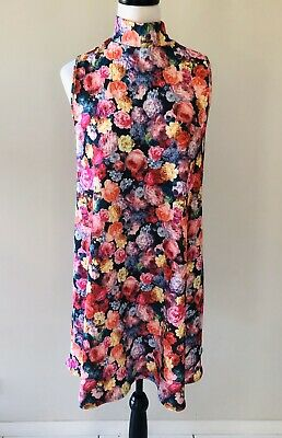 AU35 • Buy Asos Curve | Sz UK 18 16 | Floral Shift Dress | High Neck