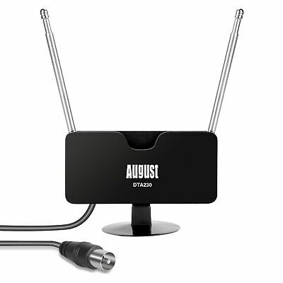 £8.95 • Buy August DTA230 - High Gain TV Aerial For Freeview HD DAB FM Magnetic Base Antenna