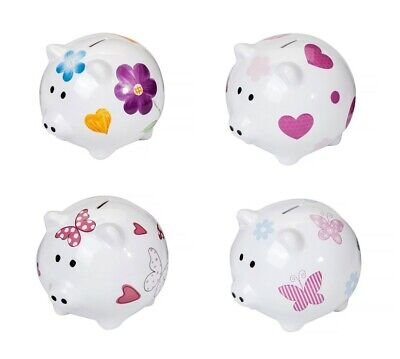 Piggy Bank Large Big XL Ceramic Coin Money Saving Box Gift Girls Women Kids Baby • 16.99£