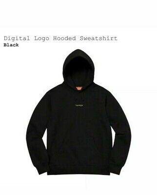 $ CDN248.73 • Buy Supreme Authentic Digital Logo Hoodie Black Men's Size Large NWT SS20