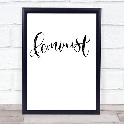 £7.29 • Buy Feminist Quote Print Poster Typography Word Art Picture