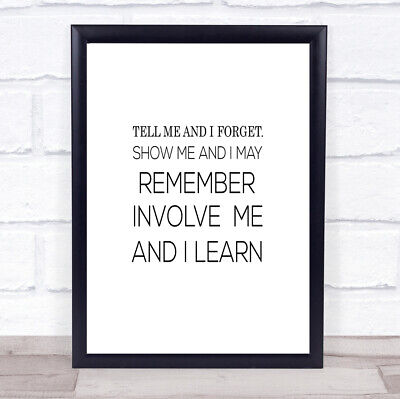 £7.29 • Buy I Learn Quote Print Poster Typography Word Art Picture