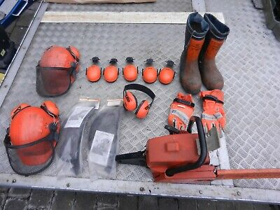£120 • Buy Dolmar Chainsaw And Safety Kit, Boots, Helmets, Gloves, Spares