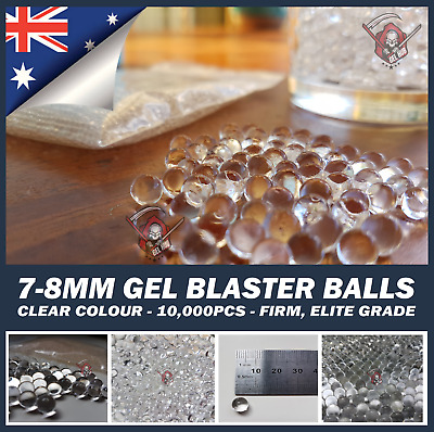 AU9.95 • Buy 7-8mm Gel Balls Ammo COMP HARDENED Orange 10,000 7mm-8mm Water Toy Gel Blaster