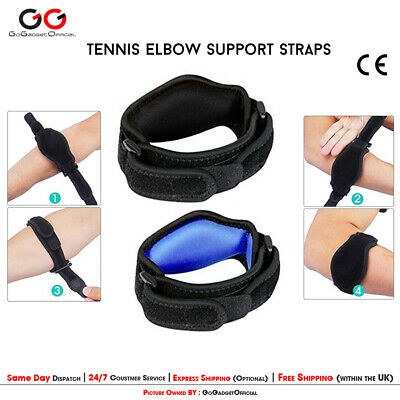 Tennis Elbow Support Gym Brace Golfers Strap Epicondylitis Band Clasp Arthritis • 4.10£