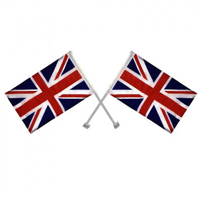 £2.99 • Buy 2 X Union Jack Window Car Flags United Kingdom Great Britain With Free Delivery