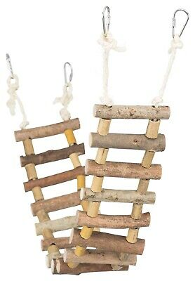 61643 Trixie 80cm Wooden Hamster Cage Suspension Ladder / Swing / Bridge • 14.99£