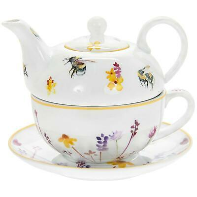 Colourful Busy Bees Fine China Tea For One Cup Mug Teapot Boxed Gift Set • 13.95£