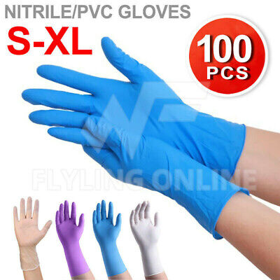 AU15.85 • Buy 100pcs Disposable Nitrile Medical Gloves Vinyl Latex Powder Free Medical Glove